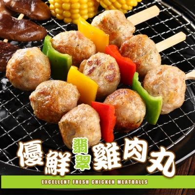 【愛上美味】優鮮雞肉丸6包組(300g±10%/10顆/包)
