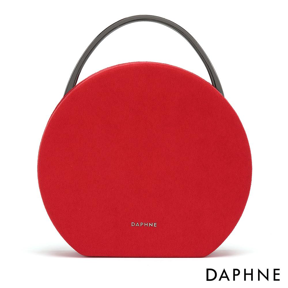 達芙妮DAPHNE-圓盒造型鏈帶宴會包-紅