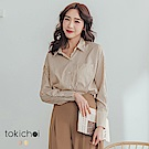 東京著衣-無印知性直條紋襯衫上衣(共兩色)