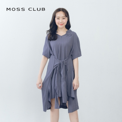 【MOSS CLUB】單寧大口袋-上衣(黑色)