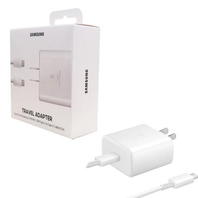 Samsung 原廠45W快充組(旅充+Type C 傳輸線) EP-TA845【盒裝】白