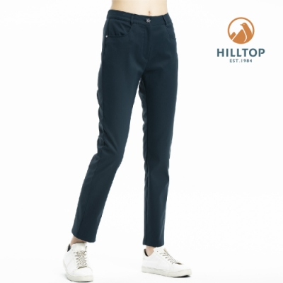 【hilltop山頂鳥】女款超潑水保暖彈性長褲PH31XFL8ECE0藍夜