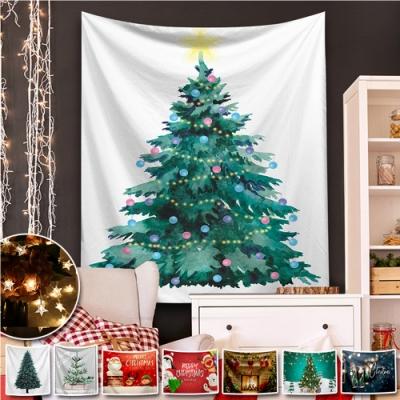 [買就送1.5米星星燈+安裝包] 聖誕系裝飾掛布 聖誕佈置 半島良品(30款) [限時下殺]