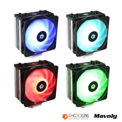 ID-COOLING 新型CPU緊湊鰭片 SE-224-RGB 炫彩燈效散熱風扇