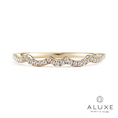A-LUXE 亞立詩 18K金W型鑽石線戒