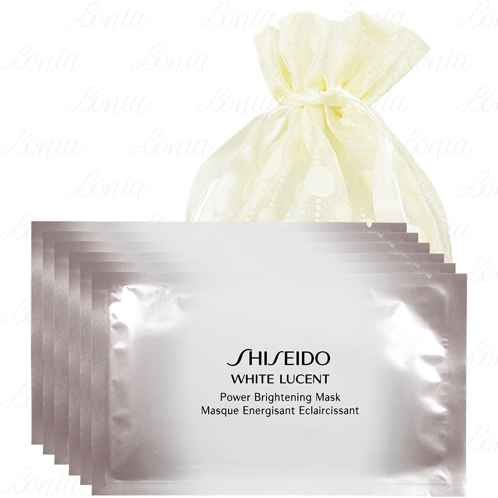 SHISEIDO 資生堂 美.透.白 淨電力面膜(27ml*單片)*6旅行袋組