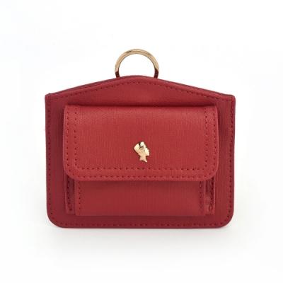 PORTER - 輕甜繽紛SPIRIT造型頸掛零錢包 - 紅(金)