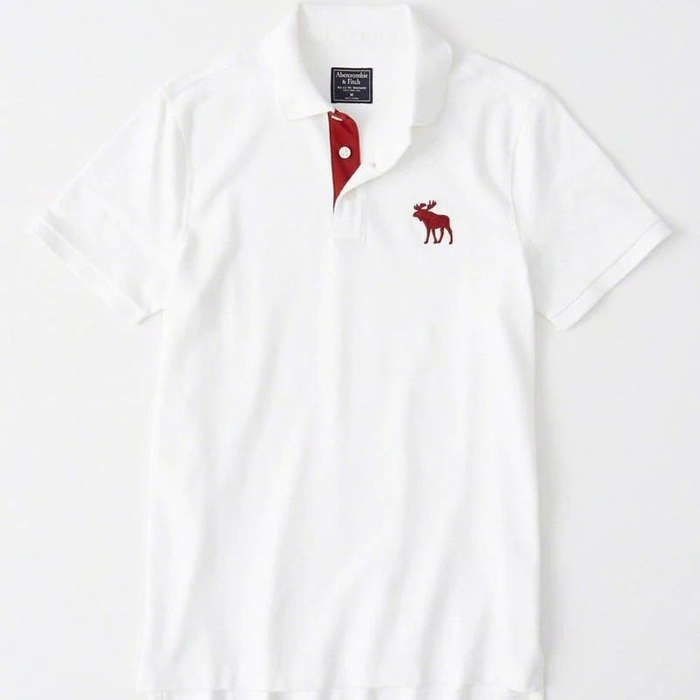 AF a&f Abercrombie & Fitch POLO 白色 0975