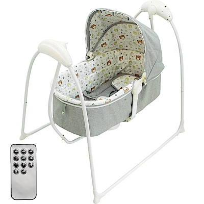 Babybabe 嬰幼兒MP3音樂電動搖床(熊熊家族)