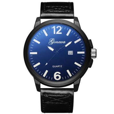 Gonewa-正義聯盟 精緻刻度簡約潮流日曆手錶 (3色任選)