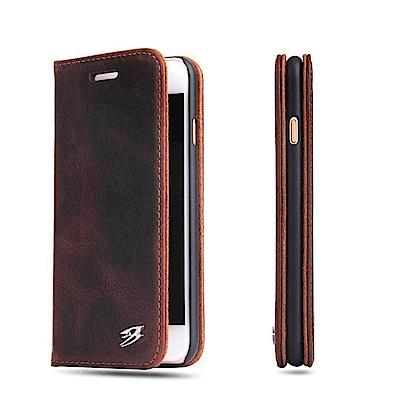 Fierre Shann 瘋馬紋 iPhone 7/8 (4.7吋) 插卡手工皮...