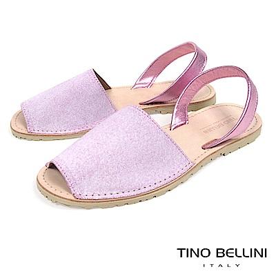 Tino Bellini 西班牙進口睛漾亮彩馬卡龍魚口涼鞋 _ 粉紫
