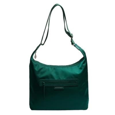 LONGCHAMP Le Pliage Neo系列HOBO尼龍梯形造型斜背包(鮮綠色)