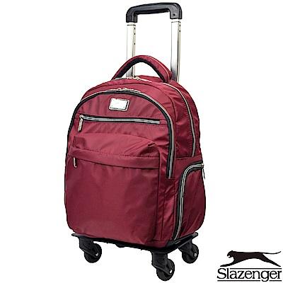 Slazenger 史萊辛格 16吋可拆式拉桿後背包(紅)