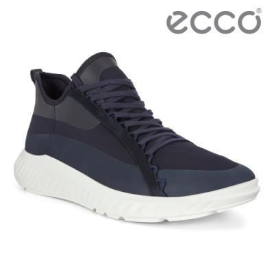 ECCO ST.1 LITE M 流線透氣運動休閒鞋 男鞋 午夜藍
