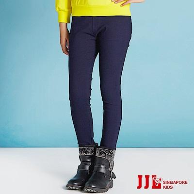 JJLKIDS 韓系女孩高腰鬆緊長褲(藏青)