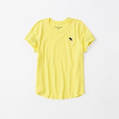 麋鹿 AF A&F 經典麋鹿標誌素面短袖T恤(女青年款)-黃色