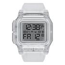 NIXON  時代科技多功能電子腕錶-透明白(A1180961)/46mm