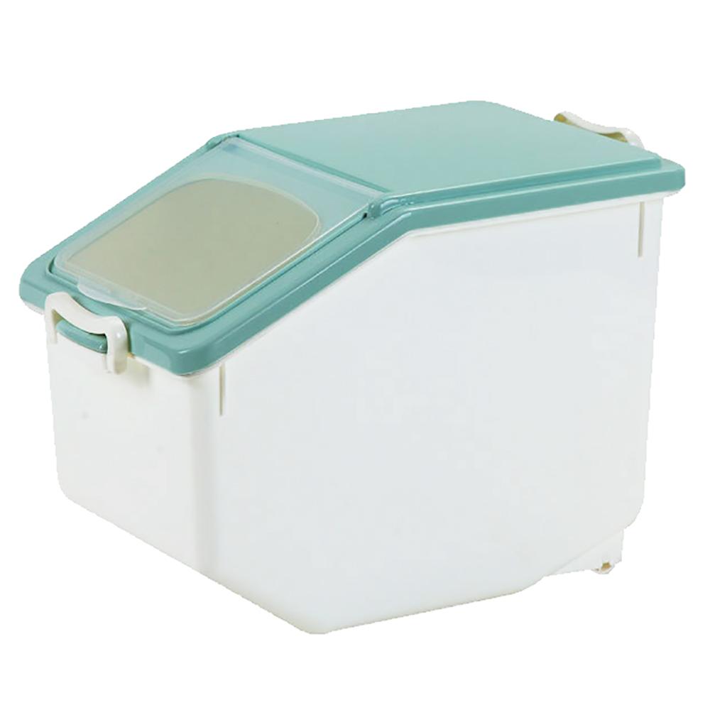 【日居良品】掀蓋式保鮮防潮密封式儲米桶/寵物飼料桶-中型10KG