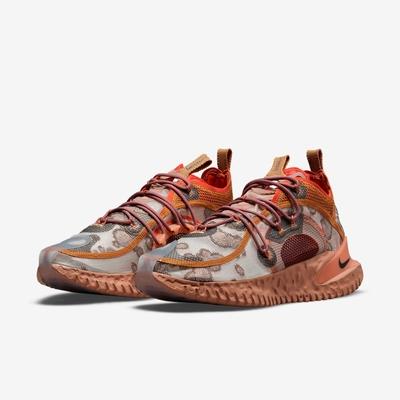 Nike 休閒鞋 Flow 2020 ISPA 運動 男鞋 輕量 透氣 連動式鞋帶 都市機能 穿搭 棕 橘 DM2830200