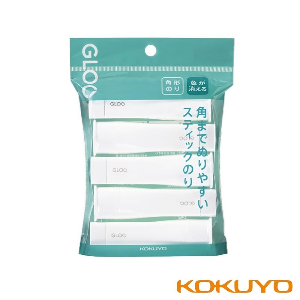 KOKUYO GLOO 方形口紅膠消色型-S藍(10g)5入