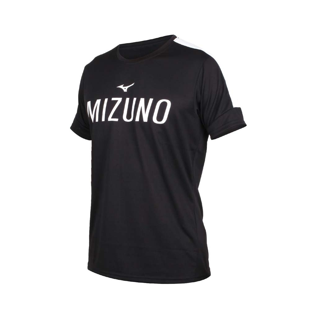 MIZUNO 男短袖T恤-吸汗快乾 美津濃 慢跑 路跑 K2TA050209 黑白