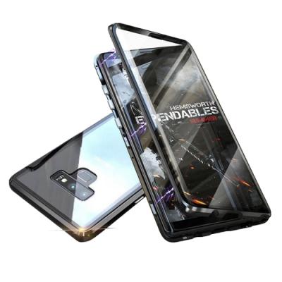 BOTYE萬磁王雙玻璃系列 三星Note 9 航空鋁金雙玻璃保護殼