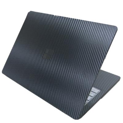 EZstick Microsoft Surface Laptop 3 石墨黑 專用 黑色立體紋機身貼