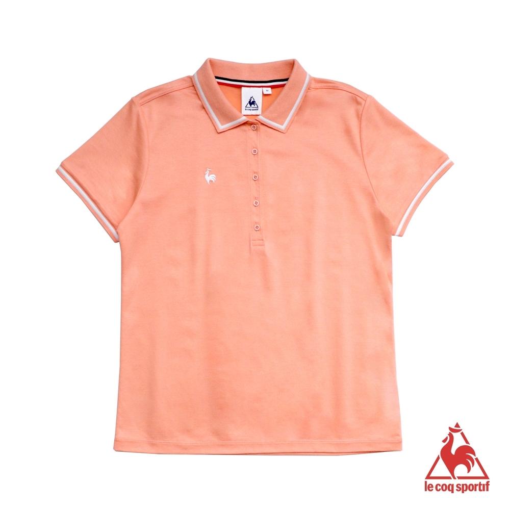 法國公雞牌短袖POLO衫 LYH2215462-女-粉橘