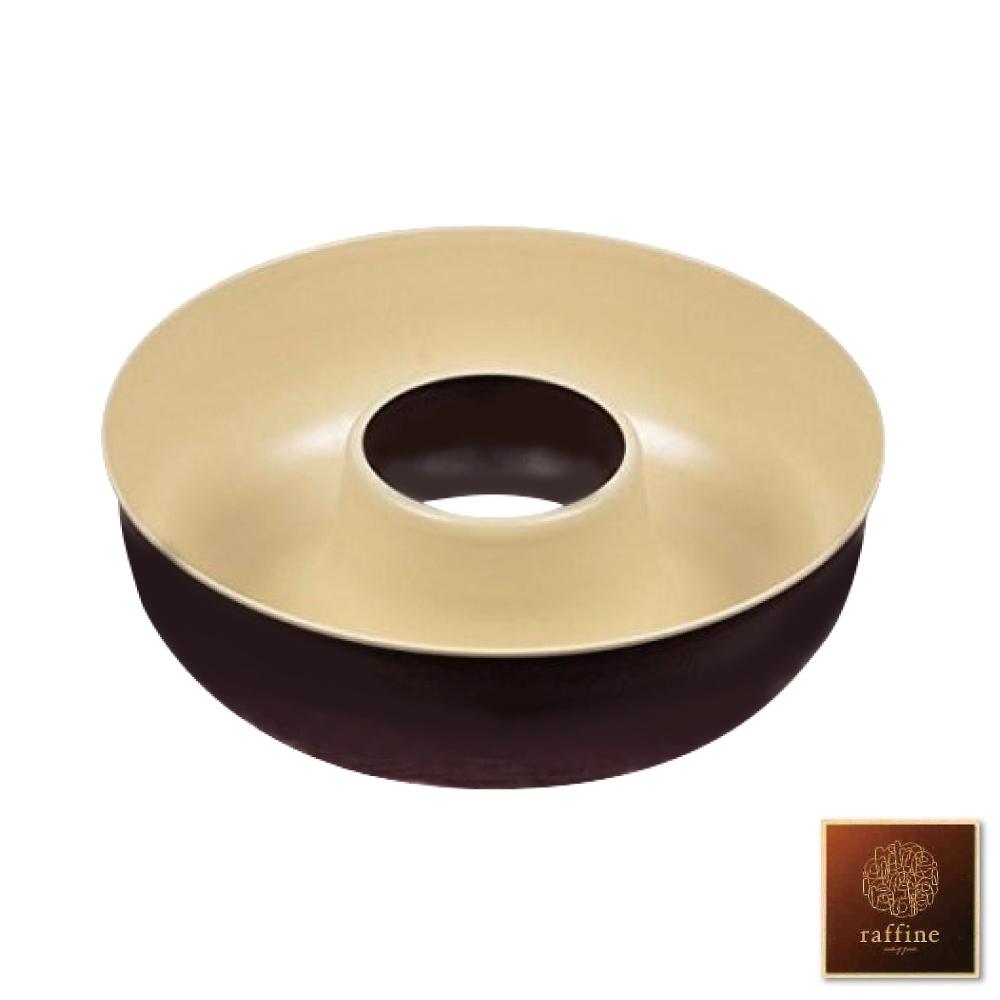 [日本Raffine] 固定式圓型白色不沾天使蛋糕烤模18.5cm-日本製