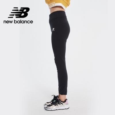 New Balance 小Logo棉質彈性緊身褲_女性_黑色_AWP01519BK