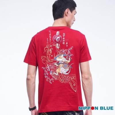 日本藍 BLUE WAY – 日本藍金鼠限定TEE(紅)