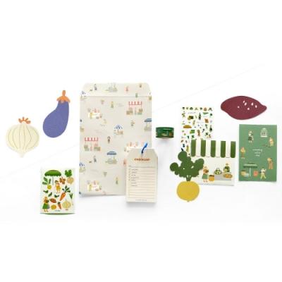 Dailylike 小市集創意文具組合包-02蔬果店
