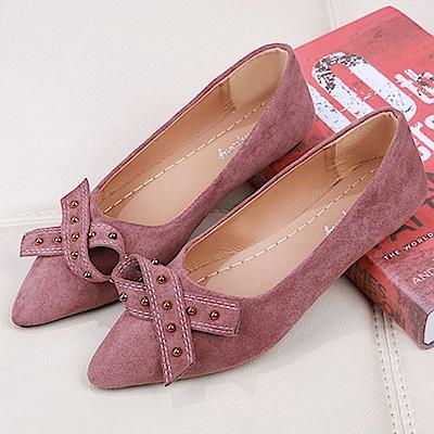 KEITH-WILL時尚鞋館 韓流甜美誘惑平底鞋-粉色