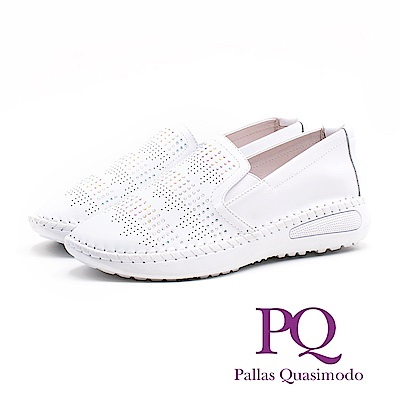 PQ 氣質皮革休閒 女鞋-白(另有黑)