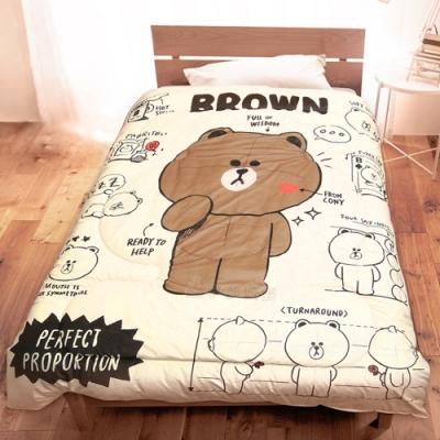 享夢城堡 超柔暖暖毯被150x195cm-LINE FRIENDS 我愛素描-米