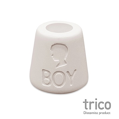 TRICO 幸福點點名珪藻土牙刷架-Boy