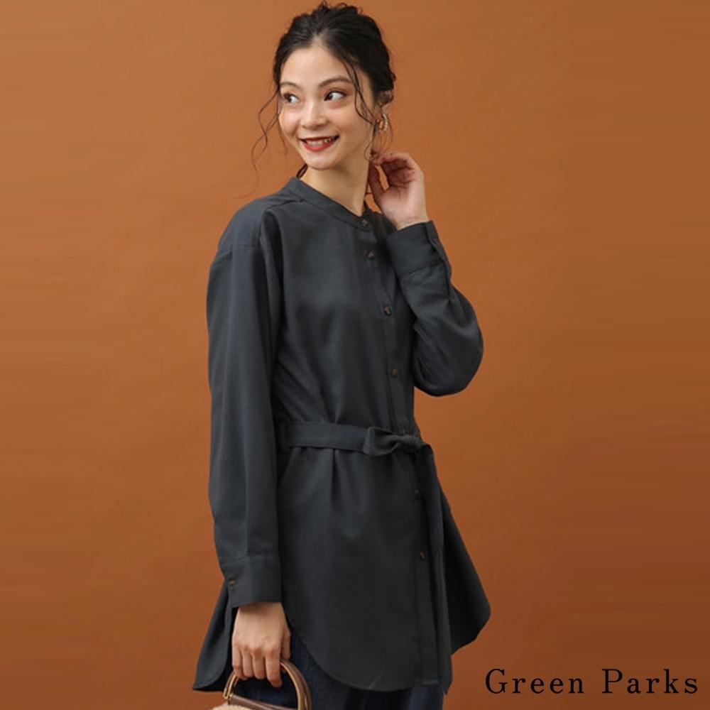 Green Parks 前綁帶設計襯衫上衣