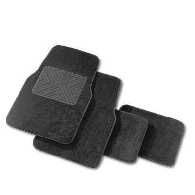 高質感絨毛車用踏墊-四片式-灰色