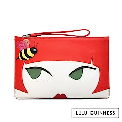 LULU GUINNESS GRACE 手拿/萬用袋 (DOLL FACE)
