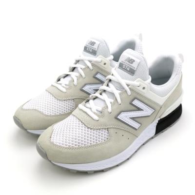 New Balance 男女休閒鞋-MS574STW-D米白