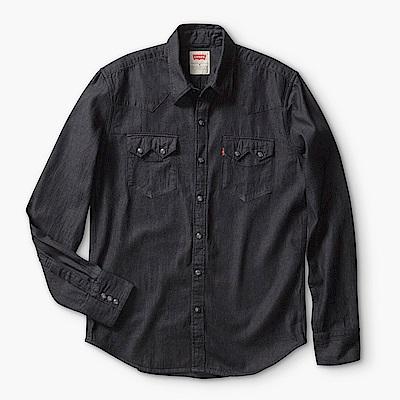 Levis 男款牛仔襯衫Sawtooth W形鋸齒雙口袋 余文樂代言款 黑丹寧