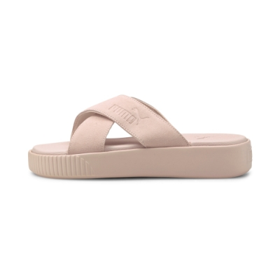 【PUMA官方旗艦】Platform Slide Suede 拖鞋 女性 37510504