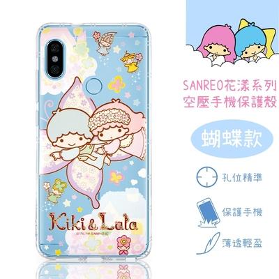 【雙子星】紅米Note 6 Pro 花漾系列 氣墊空壓 手機殼(蝴蝶)