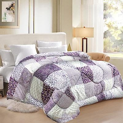 HILTON 希爾頓 愛琴海渡假中心專用/40支紗精梳棉 發熱羊毛被/花卉拼圖