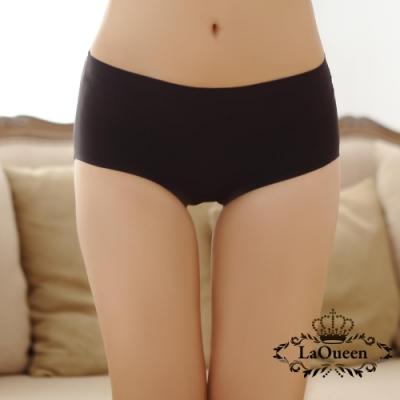內褲 彈力冰絲無痕蠶絲褲-黑 La Queen