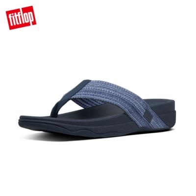 FitFlop SURFER FRESHWEAVE運動風夾腳拖鞋-男(午夜藍)