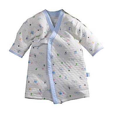 三層棉厚保暖純棉護手長睡袍 b0112 魔法Baby