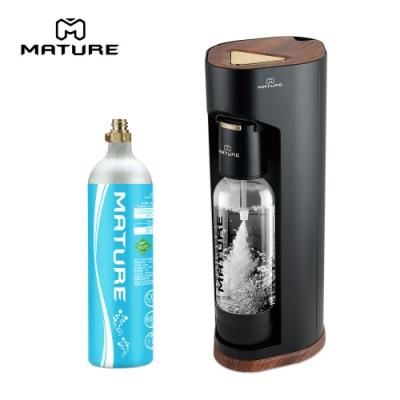 MATURE美萃 Luxury440系列氣泡水機-木質黑