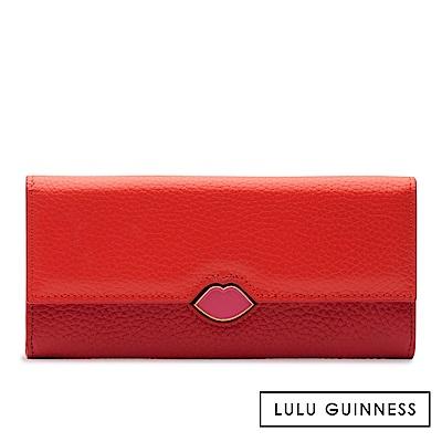 LULU GUINNESS CORA 長夾 (橘紅)